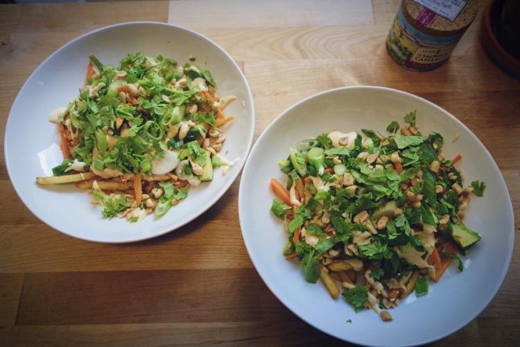 Pad Thai Pommes - veganskt recept
