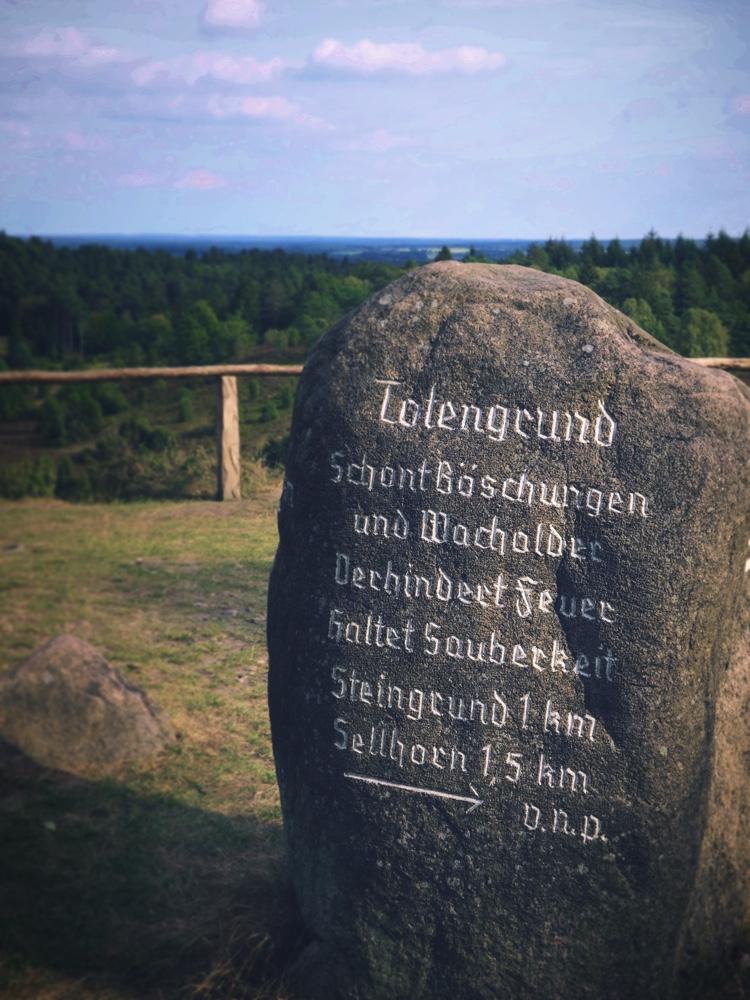 Totengrund_Sten med anvisningar