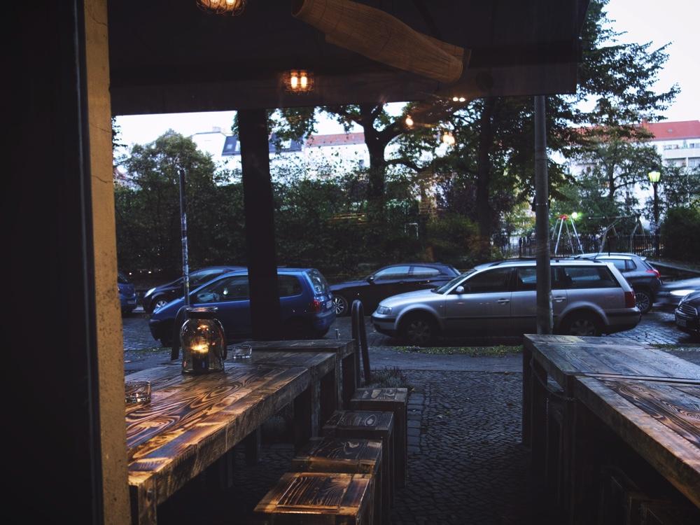 utsikt från restaurang Xigon en regnig söndag