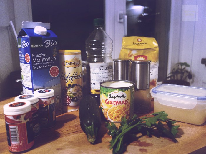 ingredienser till zucchiniplättar