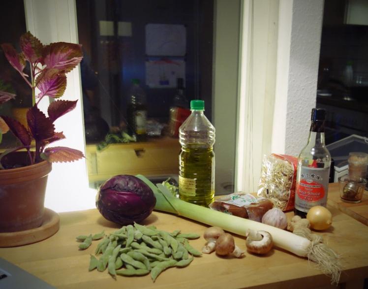 ingredienser till vegansk ramen