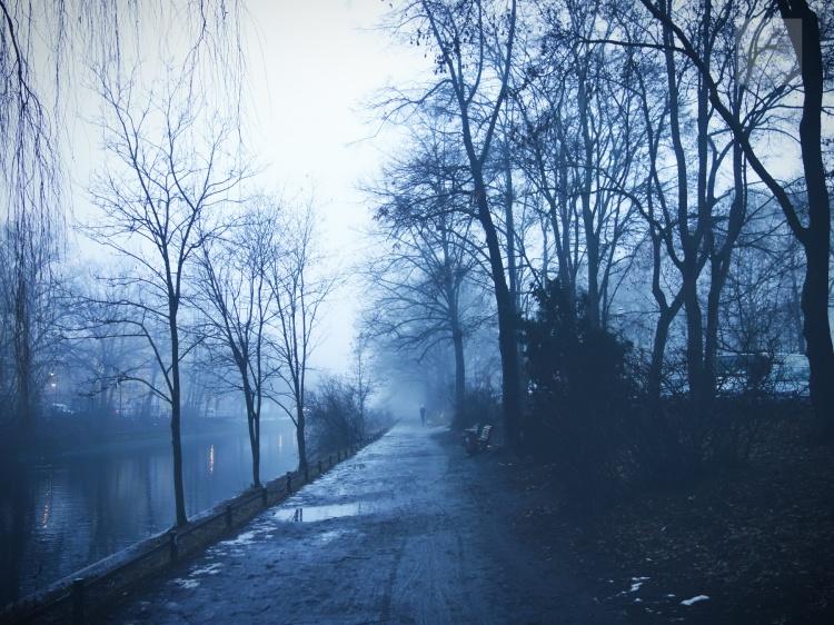 Magisk dimma på Paul-Linke-Ufer i Kreuzberg.