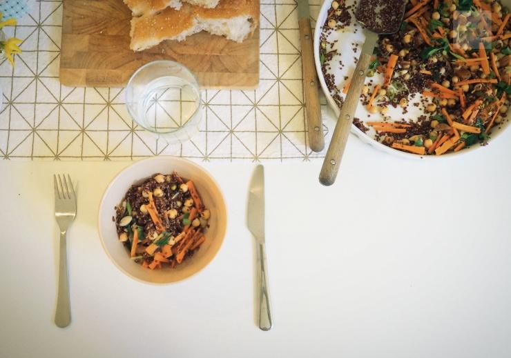 Quinoasallad med morötter