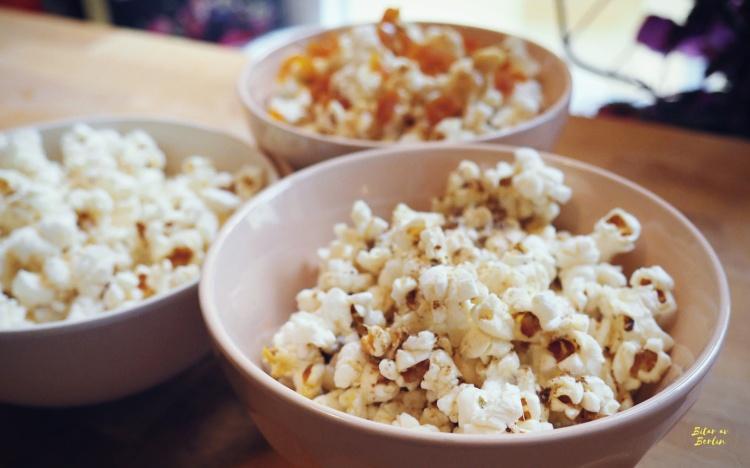 Veganska popcorn på tre sätt